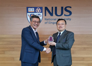 President Zhang Rong Leads a Delegation to Visit National University of Singapore